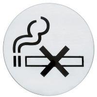 PLACA AVISO INOX 7.5 NO FUMAR